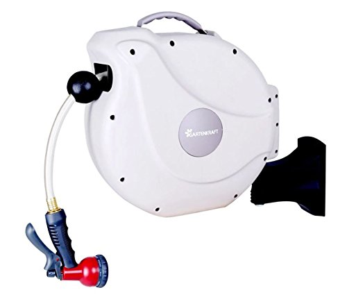 Hose Reel. Retractable Swivel Wall Mounted, Eliminates Kinks And Entanglement. Perfect Roller For Garden, Yard, Backyard, Lawn. Functional, Neatly Organized And Space Saver Storage, 1/2 In. 82 Ft. by Hose-Reel-Retractable-Swivel