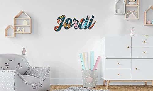 Nombres en madera • Nombres Personalizados para pared, Nombres para bebés, Regalo personalizado • 30 cm   40 cm   50 cm Nombres en madera natural y a color !!