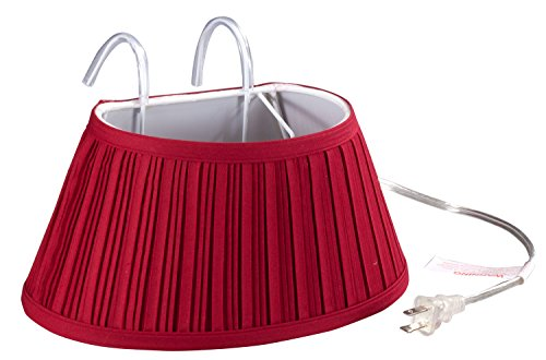 Miles Kimball Over-the-Bed Light with Colored Shade,Burgundy
