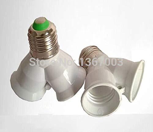 Halica 1PCS E27 to 2 E27 Light Lamp Bulb Adapter Converte 2E27 Lamp Holder Converter