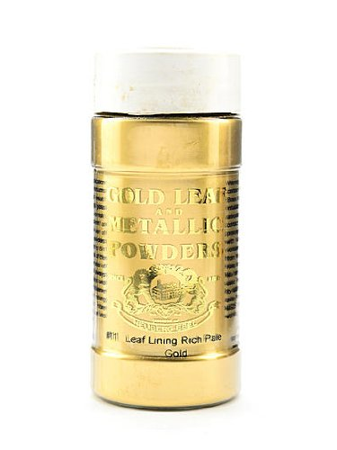 Gold Leaf & Metallic Co. Metallic and Mica Powders leaf/lining rich pale gold 2 oz.