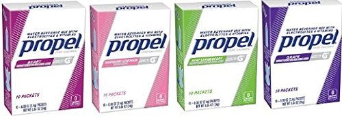 Propel Powder Drink Mix 40 Packet Variety Pack (Berry, Raspberry Lemonade, Kiwi Strawberry & - Drink Propel Packets Mix