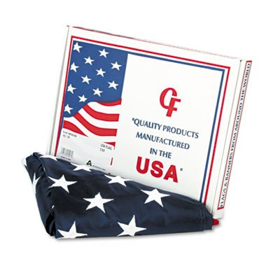 - Advantus Products - Advantus - All-Weather Outdoor U.S. Flag, 100% Heavyweight Nylon, 3 ft. x 5 ft. - Sold As 1 Each - All-weather flag made of 100% heavyweight nylon. - Sewn stripes and embroidered stars. - White canvas heading is fitted with brass grommets. - Made in U.S.A. -