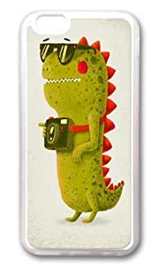 Apple Iphone 6 Case,WENJORS Adorable Dino touristo olive Soft Case Protective Shell Cell Phone Cover For Apple Iphone 6 (4.7 Inch) - TPU Transparent by icecream design