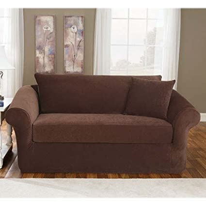 Amazon.com: SureFit Stretch Pique 3-Piece - Sofa Slipcover ...