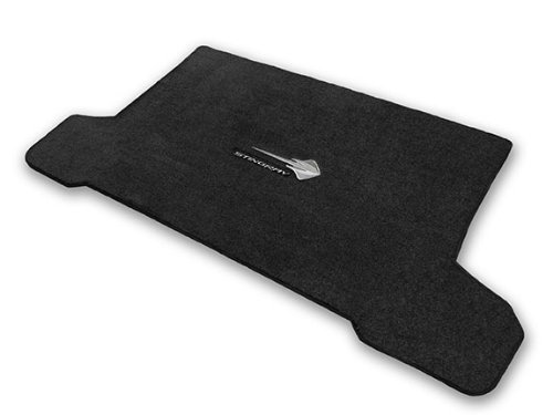 2014-2017 Corvette C7 Convertible Jet Black Trunk Mat - Stingray Logos