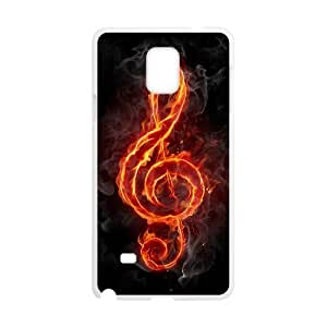 JFLIFE Clef Music Phone Case for samsung galaxy note4 White Shell Phone [Pattern-2]