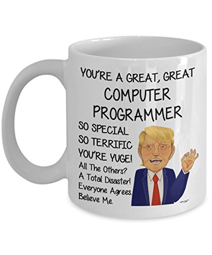 (Computer Programmer Coffee Mug - Funny Gifts For Men Women Office Co-worker - Birthday, Christmas, Gag Tea Cup By Whizk MTR122)