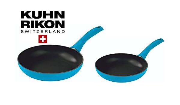 Kuhn Rikon Colori Cucina Inducción Sartenes (24 y 28 cm de diámetro ...