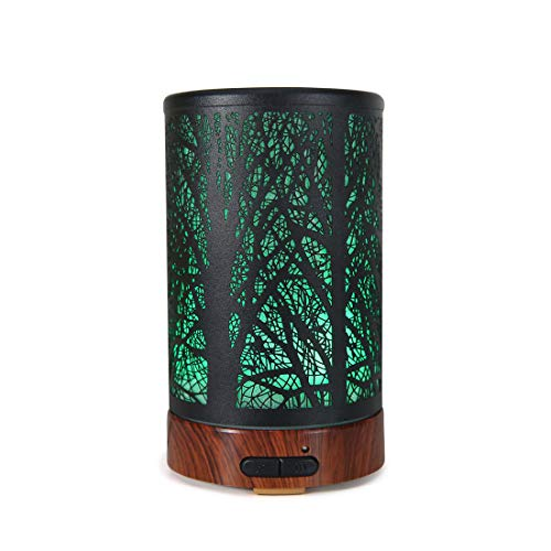 Humidifier for Home bedroom livingroom Office Yoga ASAWASA Essential Oil Diffuser, Aroma Humidifiers with Waterless Auto Shut-Off Protection, 7 Colors Changed LED Multifunction Night Light Tree