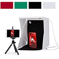 SRUIM Studio Light Box Photography Foldable Portable Photo Lighting Studio 4 Colors Background Shooting Tent Box Kit