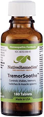 Native Remedies Tremorsoothe To Temporarily Control Shakes, Tremors And Muscle Spasms (180 Tablets)