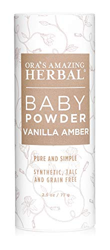 Natural Baby Powder, Talc Free Baby Powder, Baby Skin Care, Gentle Vanilla Amber, Corn Free Baby Powder, Grain Free, Gluten Free Baby Powder, Ora's Amazing Herbal, Made in USA Baby Products