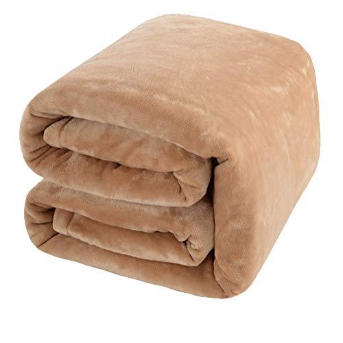 Royal Velvet Blanket - Shilucheng Luxury Fleece Blanket Super Soft and Warm Fuzzy Plush Lightweight Queen Couch Bed Blankets - Cream