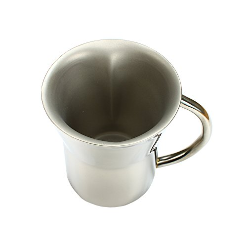 WAGOKOROYA Japanese Romantic Artwork Stainless Steel Duo Insulation Heart Mug/Heart Cup in an Exquisite Gift Box for Birthday/Anniversary/Wedding, 5.7 OZ, Height 3.5