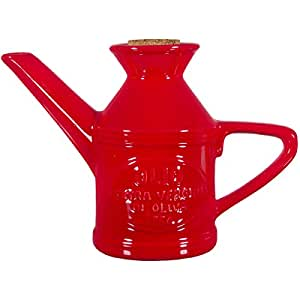 Ceramic Can with Stopper Color: Red