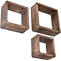 ts-ideen Juego de 3 Cubos para la Sala, Estilo Antiguo, Estantería para Pared y fijarla en la…