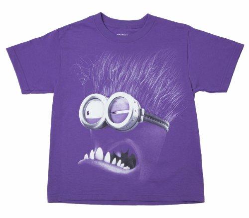 Despicable Me 2 - Evil Purple Minion - Youth T-Shirt (Large -