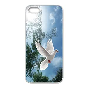 High Quality Phone Case For Apple Iphone 5 5S Cases -White dove-LiuWeiTing Store Case 12