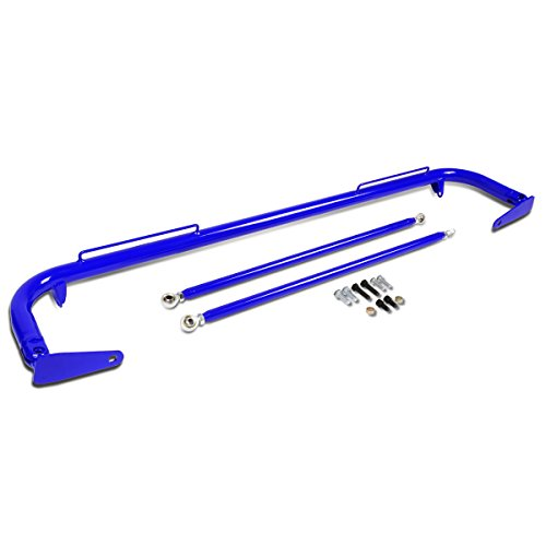 49 inches Universal Safety Seat Belt Bar with Support Rods (Blue)