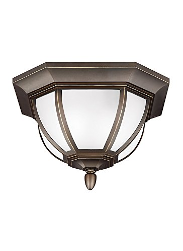 Seagull 7836302-71 Two Light Outdoor Ceiling Flush Mount