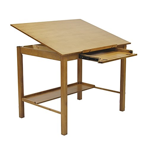 Offex Americana II Light Oak Wood 36-inch x 48-inch Drafting Craft And Hobby Table by Offex