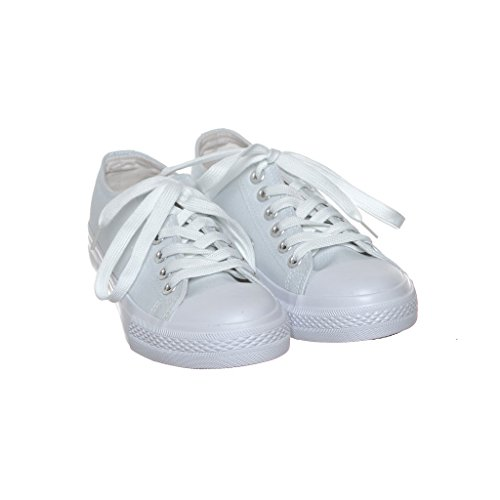 Nuovo Stile!! Sneaker Da Donna Classica Da Skate In Canvas Best Seller Whitecn