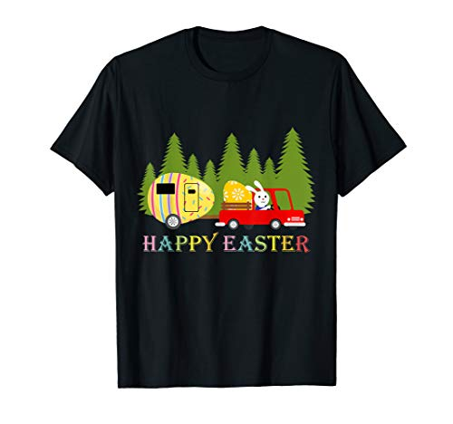Bunny Riding Camping Van Happy Easter Shirt Camper Gifts -
