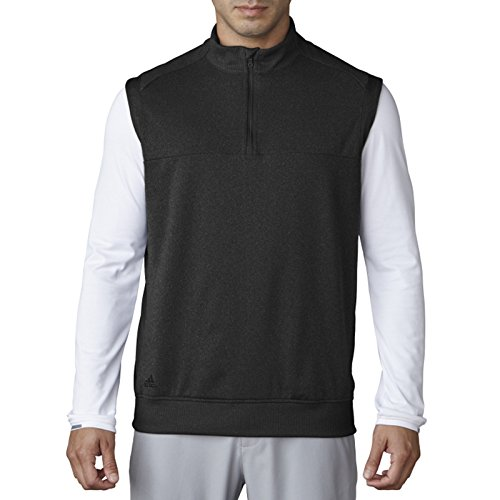 adidas Golf Men's Golf Adi Club Vest, Black Heather, Large ()