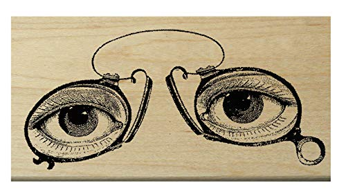 - P14 Eye glasses rubber stamp WM