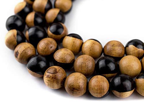 99 Round Ebony Arabian Prayer Beads (12mm), Islamic Tasbih, Ramadan Gift, Middle Eastern Beads - The Bead Chest