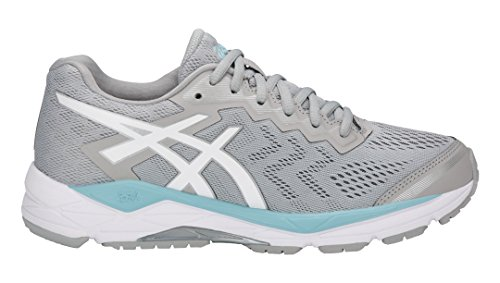 Gel-Fortitude 8 (D) Running Shoe, Mid Grey/White/Porcelain Blue - 8 D US ()