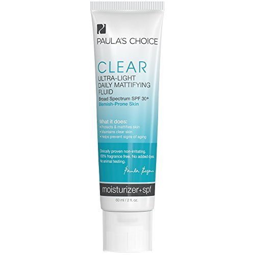 Clear Daily Moisturizer (Paula's Choice CLEAR Ultra-Light Daily Fluid SPF 30+ Anti-Aging Moisturizer for Blemish-Prone or Oily Skin - 2)