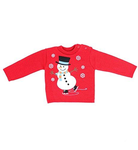 Christmas Sweaters Boys Azul de sombrero Festive a Rojo Mu marino rojo os Adam Kids eco Sweaters con 2 Verde nieve Eesa 0 Girls EqC4wYX