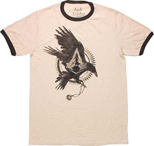 - Assassins Creed Syndicate Crow Gear Ringer T-Shirt, X-Large