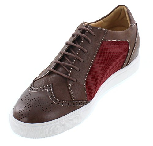 CALTO Herren Sneaker Braun Red and Brown