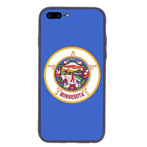 CHUFZSD US Minnesota State Flag iPhone 7/8 Plus Case Soft Flexible TPU Anti Scratch Shock-Proof Protective Shell Compatible Phone Case Cover (5.5 Inch)