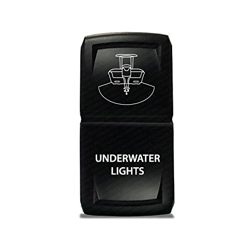 CH4X4 Marine Rocker Switch V2 Underwater Lights Symbol- Blue Led (Symbol Switch)