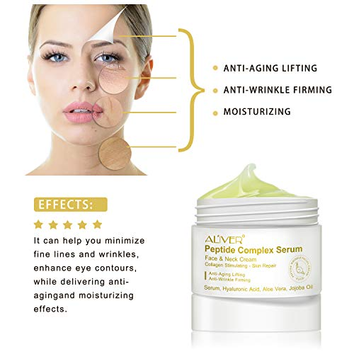 41 Lm1BrWTL - Peptide Wrinkle Cream,Anti-Wrinkle Cream,Anti aging serum,Collagen Peptides For Skin and Neck Moisturizer Cream Firming,Fights the Appearance of Wrinkles, Fine Lines,Best Day and Night