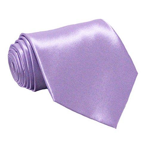 Soophen NEW Mens Necktie SOLID Satin Neck Tie Lavender