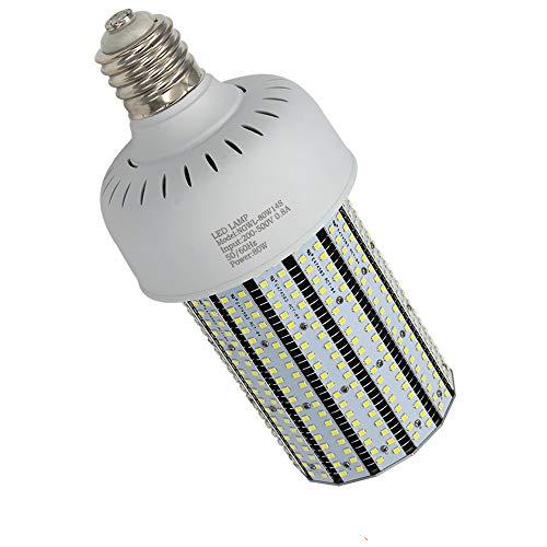 80 Watt 480V 347V LED Corn Bulb (11,092Lm 350W MH Equivalent) Daylight 5000K White High Bay Street Light Mogul Base E39 Corn Lamp in Parking Lots Garage Shop