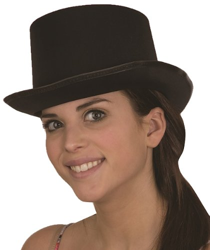 Jacobson Hat Company Men's Adult Permasilk Top Hat (5 Inch Tall), Black, Adult Small -