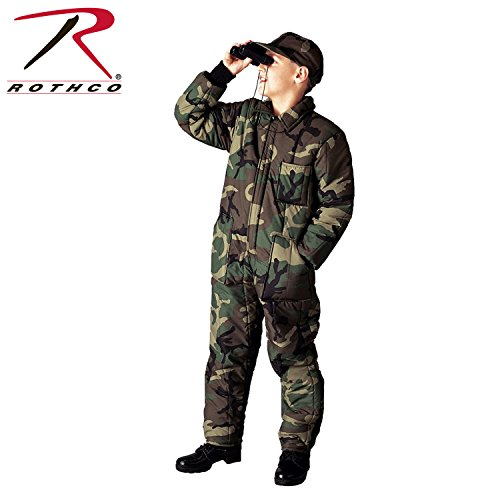 Rothco Kids Insulated Coverall, Woodland Camo, Medium by Rothco
