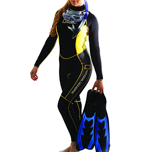 National Geographic Snorkeler Ladies Classic 1 Piece Suit, Small 5650 by National Geographic Snorkeler (Image #1)
