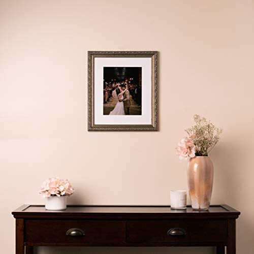 ArtToFrames 20x26 inch Antique Silver with Beads Wood Picture Frame 2WOMD6661-20x26