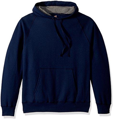 (Hanes Men's Nano Premium Lightweight Fleece Hooded Sweatshirt, Navy, Large)
