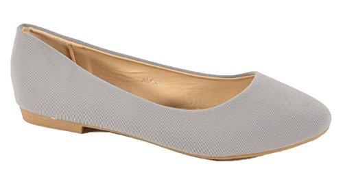 King Shoes Women's Ballet Flats Grey 2xEjLrkl