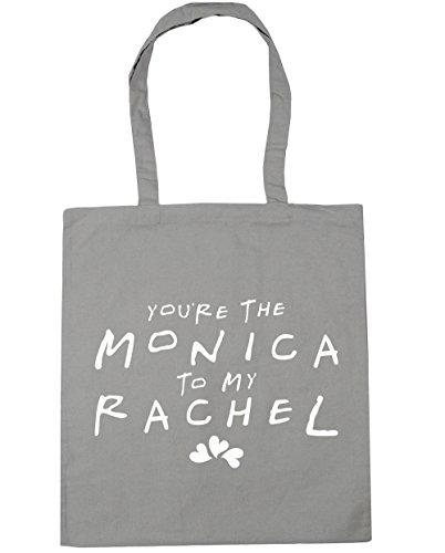 HippoWarehouse estás la Monica a mi Rachel bolsa de la compra bolsa de playa 42cm x38cm, 10litros gris claro