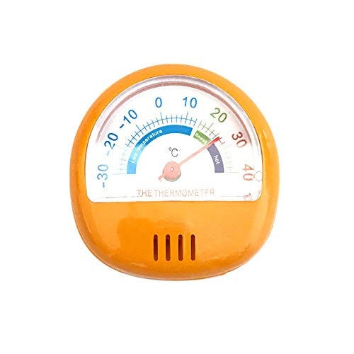 Price comparison product image Dreamyth Classic Dial Fridge Freezer Thermometer Food Meat Temperature Gauge Kitchen (Orange)
