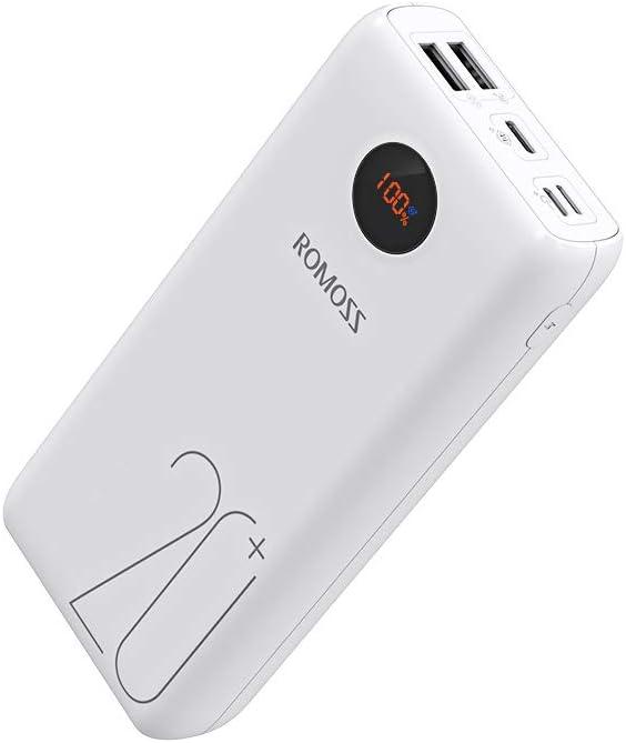 Romoss Power Bank 20000mah 18w Usb C Externer Akku Elektronik